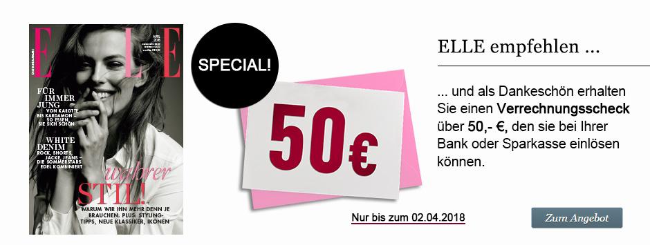 ELLE Leser werben + 50€ VS