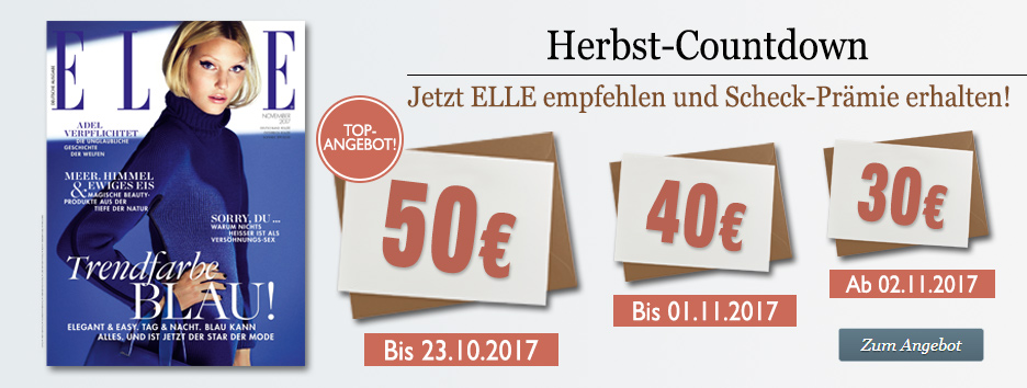 ELLE Herbst-Countdown 2017