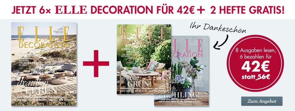 ELLE DECORATION - 2 gratis Hefte