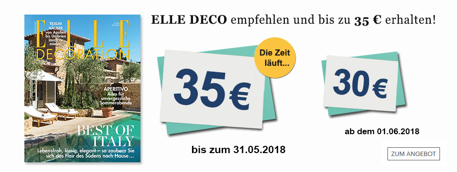 ELLE DECO Countdown 2018 - 35€ sichern!