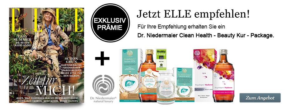 ELLE empfehlen + Dr. Niedermaier Beauty-Booster
