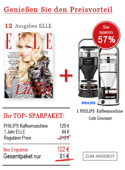 StickyAd - Sparpaket PHILIPS Kaffeemaschine