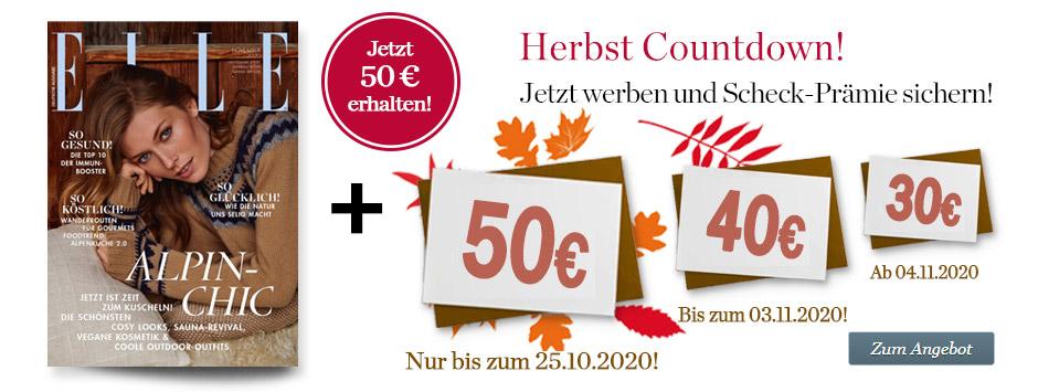 ELLE Countdown: Sichern Sie sich jetzt 50 €!