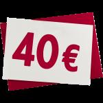 Verrechnungsscheck 40 €