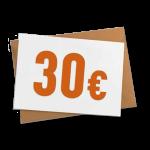 Verrechnungsscheck 30 €