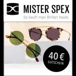 40 € MISTER SPEX Gutschein
