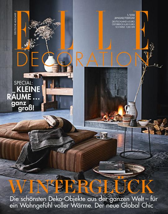 ELLE Decoration - aktuelle Ausgabe 01/2018