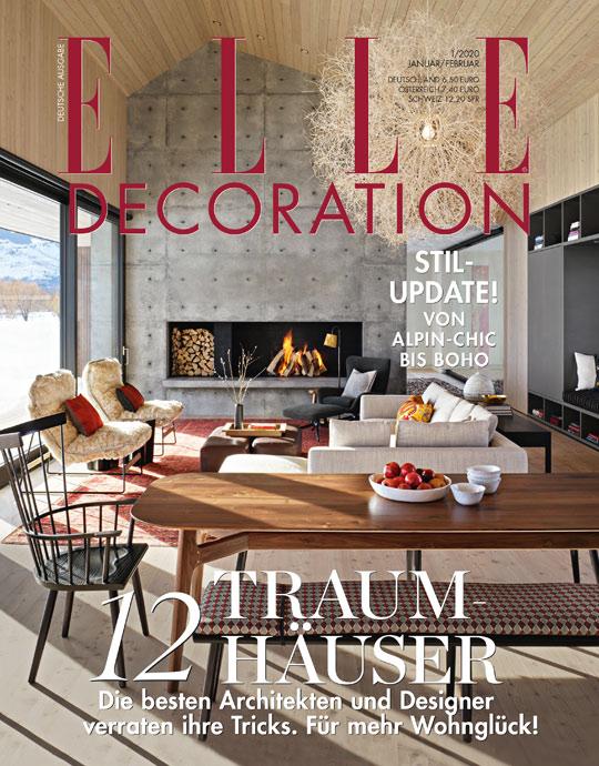 ELLE Decoration - aktuelle Ausgabe 01/2020
