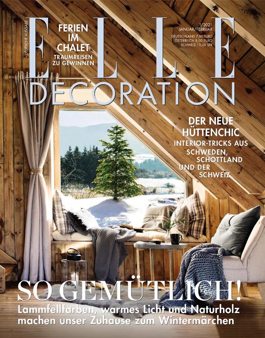 ELLE Decoration - aktuelle Ausgabe 01/2021
